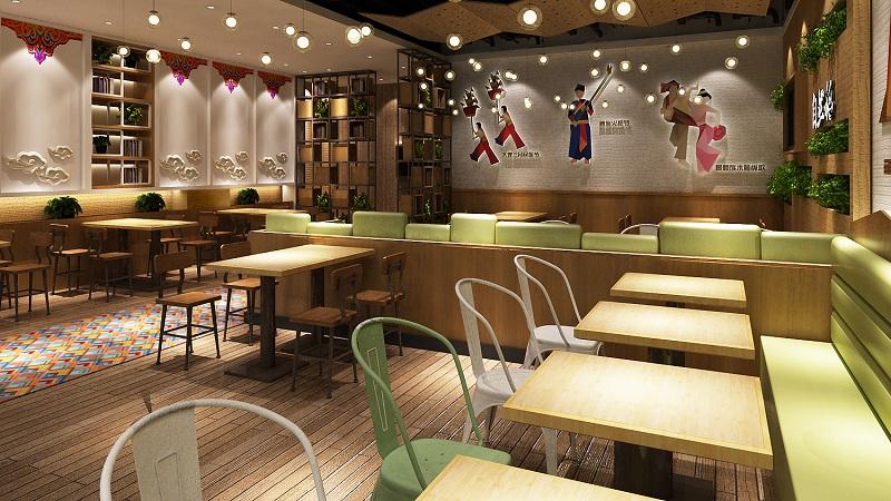 云南过桥米线店装修设计,特色小吃店发展趋势