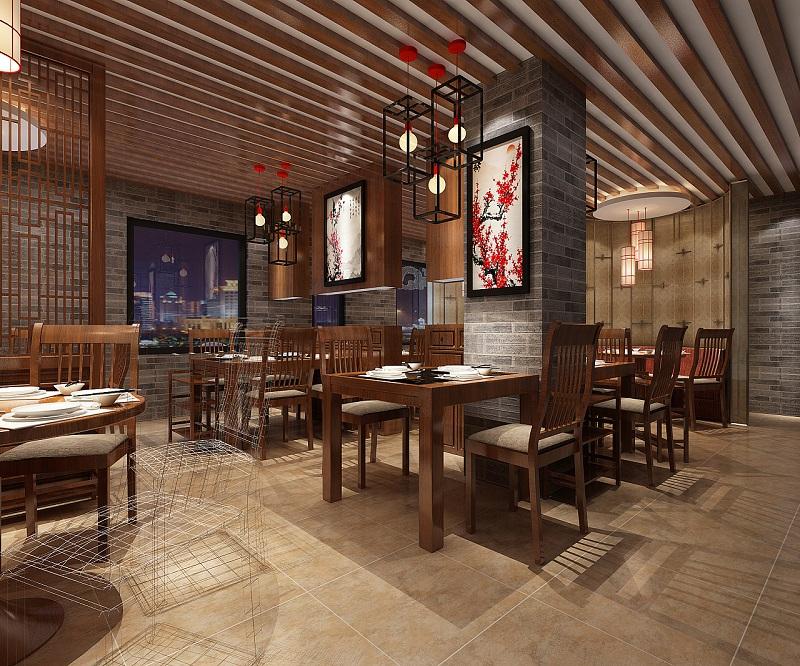 中式主题火锅店设计案例,中式火锅店设计方案分析