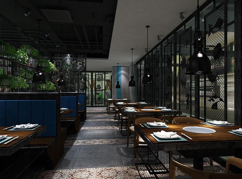 200平米小火锅店装修设计,小型火锅店厨房布局设计