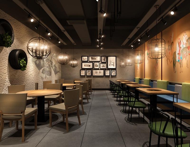 现代新中式火锅店设计_工业风火锅店设计风格说明