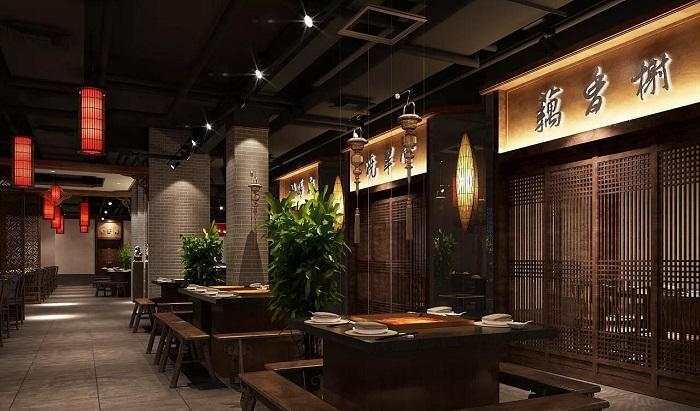 中多有运用,下面我们看看现代中式火锅店装修是什么效果
