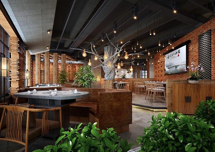 火锅店怎样装修设计,不同风格的火锅店装修大全