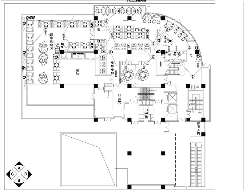 火锅店店平面设计,平面结构动向分析