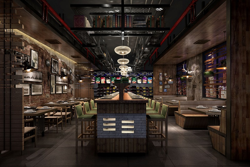 火锅店装修设计方案,一套完整的火锅店设计方案