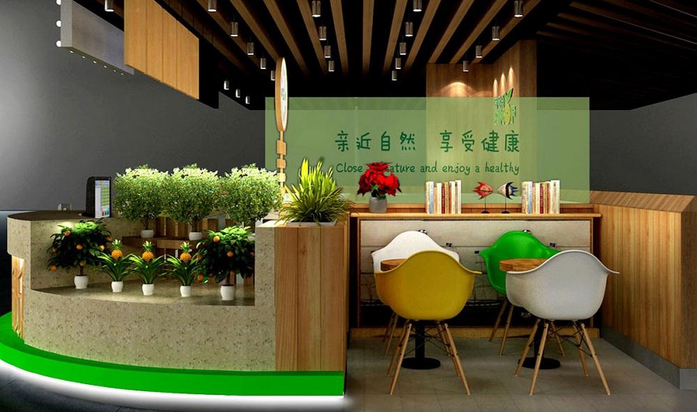水果饮品店面室内设计的4个关键点