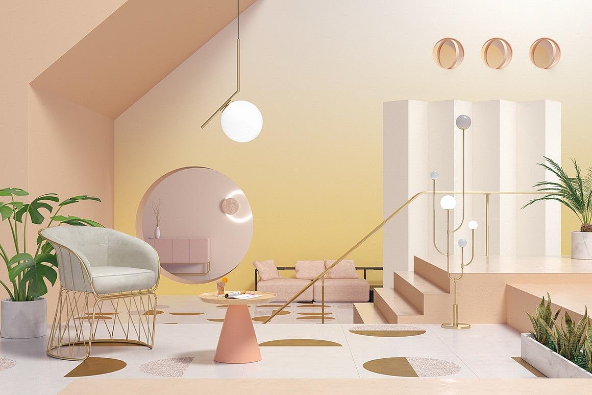 现代简约咖啡店/咖啡店设计效果图