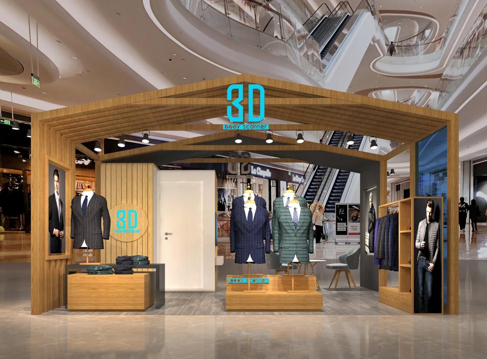 3D型男服装店设计 品牌终