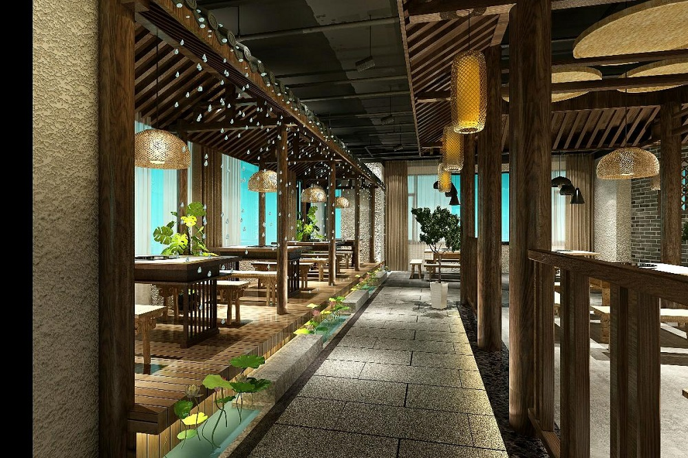 庭院式火锅店设计说明,庭院式火锅店设计大全