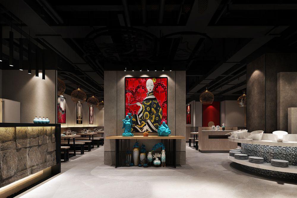 延安专业火锅店设计 自助火锅店设计的功能分区