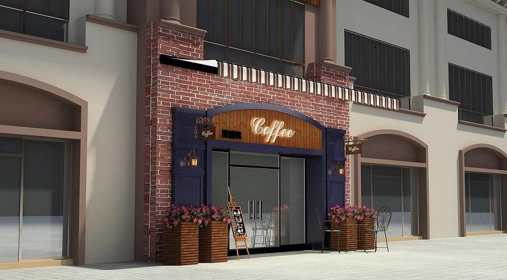 饮品店面门头设计 饮品店招牌设计
