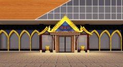 榴莲树泰式主题餐厅装修设计