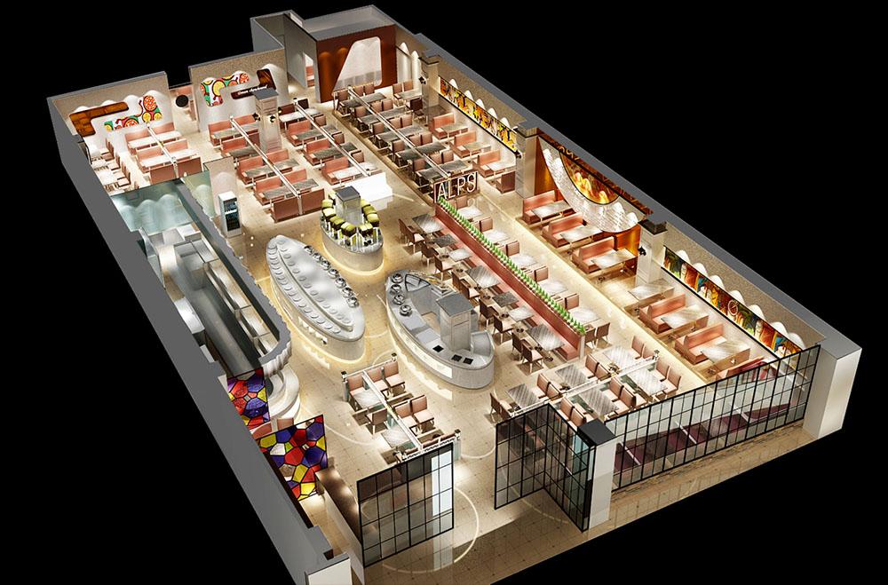 阿尔卑斯自助餐厅设计