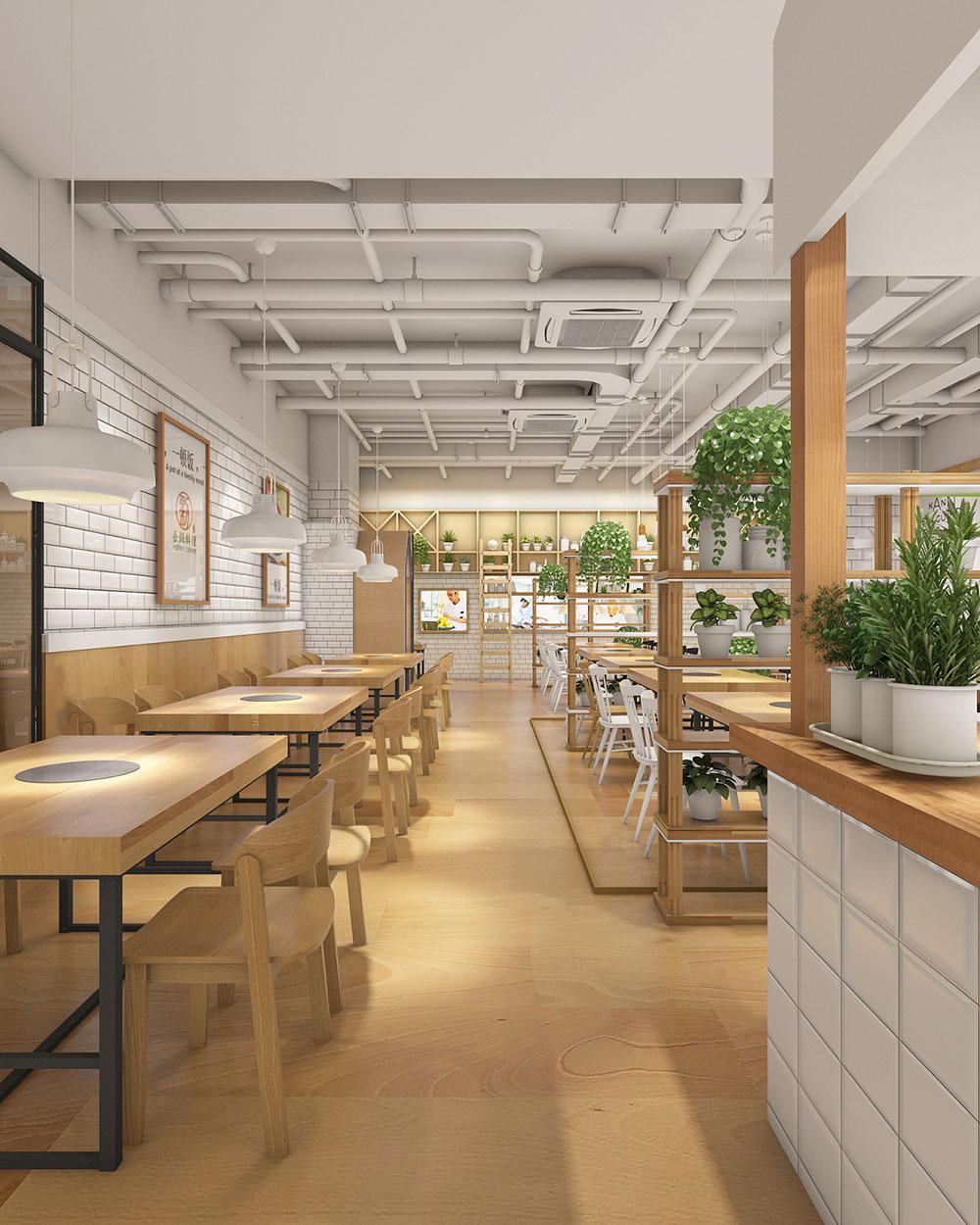 火锅料理店设计方案和效果图方案